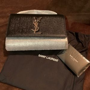 Saint Laurent Small Black Kate Crossbody Bag